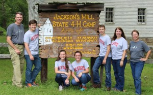 North Carolina 4-H Forestry Team at the national contest in West Virginia. Left to Right: Mark Arrowood, Spencer Cook, Lily Knepp, Jadyn Hooker, Alex Arrowood, Carla Arrowood (Coach), and Kim Knepp