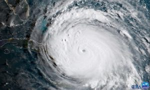 aerial view of Hurricane Florence